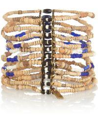 Isabel Marant Gold-plated Bamboo and Lapis Lazuli Bracelet - Lyst