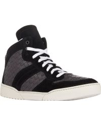 Bottega Veneta Suede & Leather Intrecciato Sneakers - Lyst