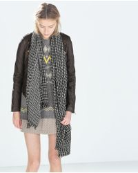 Zara Jacquard Weave Scarf - Lyst
