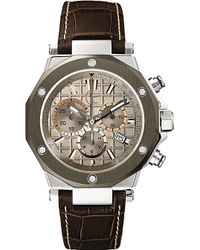 Gc - X72026g1s -3 Stainless Steel, Titanium Pvd And Leather Watch - Lyst