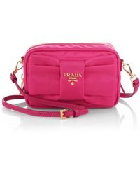 Prada Tessuto Nylon Bow Crossbody Bag - Lyst