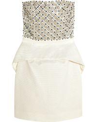 Sass & Bide Around The Corner Embellished Satin-jacquard Mini Dress - Lyst