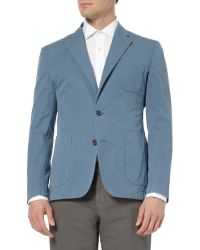 Hardy Amies Unstructured Washed Cottontwill Blazer - Lyst