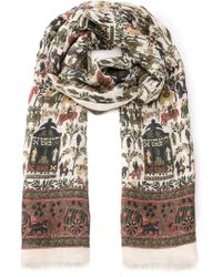 Drake's Woven Scarf - Lyst