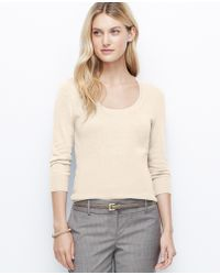 Ann Taylor Ribbed Waist Sweater - Lyst