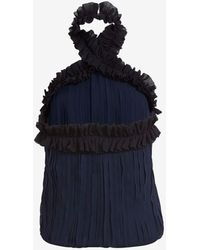 Exclusive For Intermix Ruffle Chiffon Halter Top - Lyst