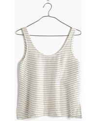 Madewell Linen Crop Top In Stripe black - Lyst
