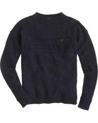 J.Crew Tall Rustic Cotton Fisherman Sweater blue - Lyst