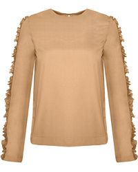 Pixie Market | Toit Volant Shelly Ruffled Top | Lyst
