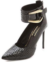 Rachel Zoe Cassandra Ankle Strap Pumps  Black - Lyst