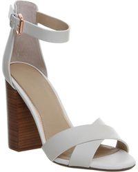 Office Pure Block Heel Sandal white - Lyst