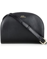 A.P.C. Black Leather Demi Lune Bag - Lyst
