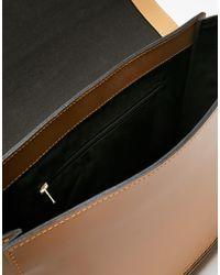 ASOS - Haven Premium Front Zip Handheld Leather Bag - Lyst