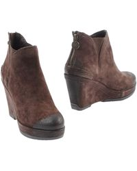Geox Brown Ankle Boots - Lyst