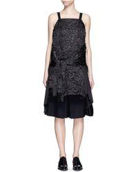 Angel Chen - Deconstructed Floral Jacquard Shirt Dress - Lyst