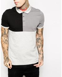 Asos Polo Shirt with Cut  Sew - Lyst