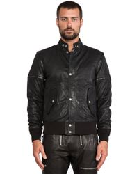 Diesel Ghita Leather Jacket - Lyst