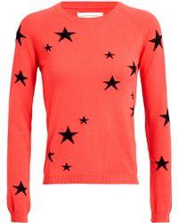 Chinti & Parker Star Patterned Cashmere Jumper orange - Lyst