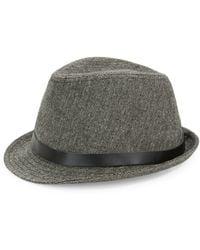 Karen Kane - Textured Fedora Hat - Lyst