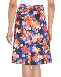 Cece by Cynthia Steffe - Floral Swing Skirt - Lyst