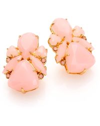 Kate Spade Color Pop Statement Cluster Earrings gold - Lyst