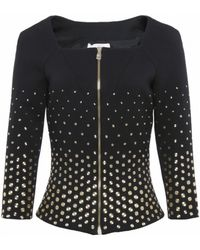 Versace Black Studded Jacket - Lyst
