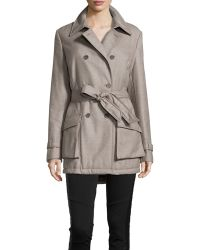 Escada Maia Double Breasted Twill Trench Coat - Lyst
