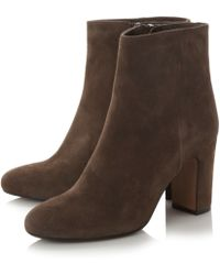 Dune Black | Ophira Almond Toe Ankle Boots | Lyst