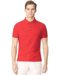 Calvin Klein Shoulder Print Polo Shirt - Lyst