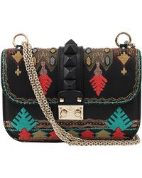 Valentino Mini Lock Embroidered Bag - Lyst