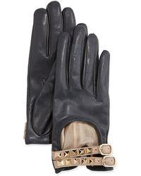 Valentino Rockstud Napa Driving Gloves - Lyst