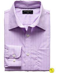 Banana Republic Factory Slim Fit Non Iron Purple Plaid Shirt  Orchid Cactus - Lyst
