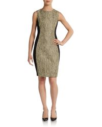 Tahari Mila Tweed Dress - Lyst