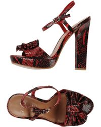 Jessica Simpson Red Sandals - Lyst