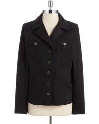 Two By Vince Camuto - Military Button-Up Jacket - Lyst