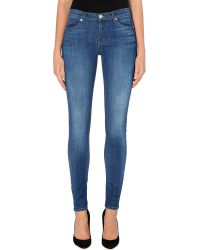 Hudson Nico Superskinny Midrise Jeans Stepping Stone - Lyst