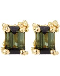Ruth Tomlinson - Gold Tourmaline Stud Earrings - Lyst
