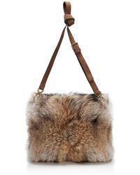 Tory Burch Coyote Fur Muff - Lyst