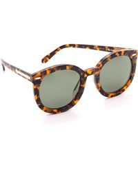 Karen Walker Special Fit Super Duper Strength Sunglasses Crazy Tortg15 Mono - Lyst