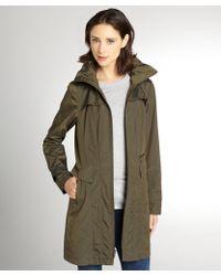 Cole Haan Olive Green Zip Front Packable Jacket - Lyst