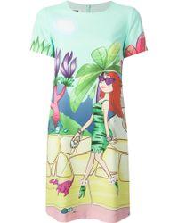 Moschino Cheap & Chic Lady and Dog Print Dress - Lyst