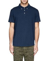 Paul Smith Paisley Print Jersey Polo Shirt - Lyst
