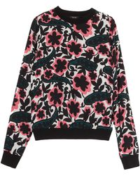 Raoul Silk Printed Front Sweater - Lyst