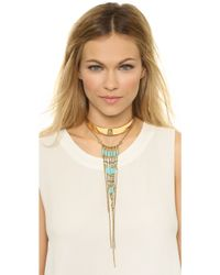 Vanessa Mooney - Walkin' After Midnight Necklace - Gold/turquoise - Lyst