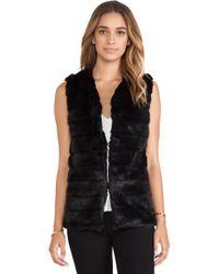 Heartloom Lizanne Faux Fur Vest - Lyst