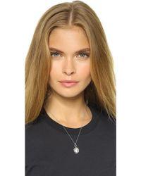 Monica Rich Kosann - Petite Bridle Locket Necklace - Silver/clear - Lyst