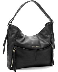 Cole Haan Braid Accented Slouchy Bag - Lyst