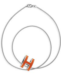 Hermes Orange Pop H - Lyst