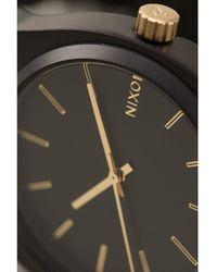 Nixon Matte Black Time Teller Watch - Lyst
