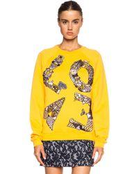 Mary Katrantzou Embroidered Cotton Sweatshirt - Lyst